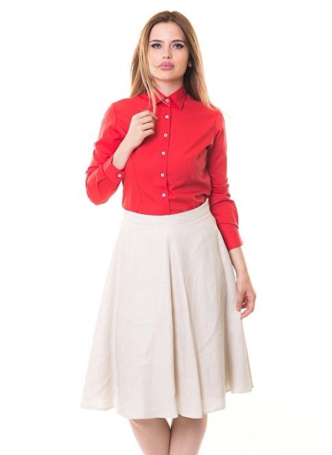Karaca Uzun Kollu Gömlek Kırmızı